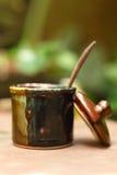 En kopp av läckert kaffesocker Royaltyfria Foton