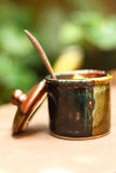 En kopp av läckert socker Royaltyfri Fotografi