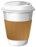 En kopp kaffe royaltyfri illustrationer