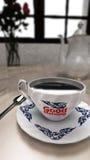 En kopp kaffe, bra morgon Fotografering för Bildbyråer