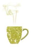 En kopp te som göras från verklig matcha Arkivbild