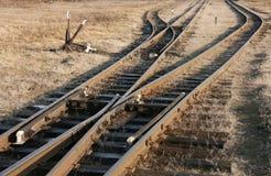 Järnvägen spårar Royaltyfria Bilder