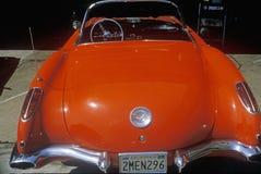 1957 en korvett i Los Angeles, Kalifornien Royaltyfria Foton