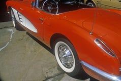 1957 en korvett i Los Angeles, Kalifornien Royaltyfri Bild