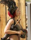 En kostymerad deltagare på den Arizona renässansfestivalen Royaltyfri Bild