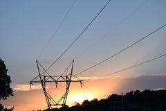 En kraftig solnedgång Royaltyfria Foton