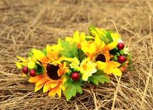 En krans av blommor Arkivbilder