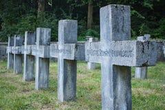 En krigkyrkogård i Sinaia royaltyfri fotografi