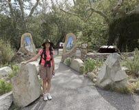 En kvinna på den nationella rekreationslingan för Catwalk Fotografering för Bildbyråer