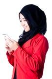 En kvinna skyler av det Indonesien landet Arkivbilder