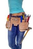 Konstruktionskvinna. Royaltyfria Foton