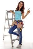 Konstruktionskvinna. Arkivbild