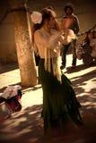 En kvinnlig flamencodansare utomhus 71 royaltyfri bild