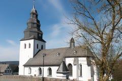 En kyrka i den Sauerland Tyskland Fotografering för Bildbyråer
