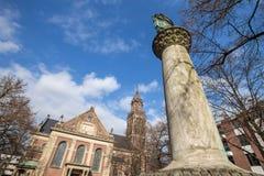 en kyrka i krefeld Tyskland Arkivbilder