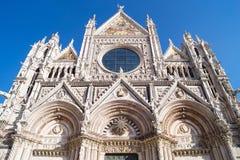 En kyrka i Siena, Italien Fotografering för Bildbyråer