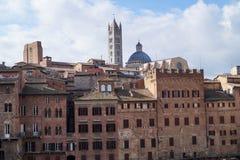 En kyrka i Siena, Italien Royaltyfri Fotografi
