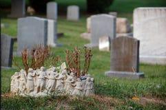 En kyrkogård i Virginia Royaltyfri Fotografi