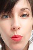 En kyss Fotografering för Bildbyråer