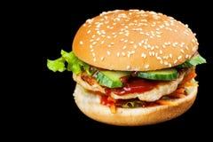 En läcker hamburgare Royaltyfria Foton