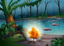 En lägerbrand vektor illustrationer