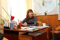 En lärareundervisning Royaltyfri Fotografi