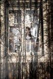 En läskig spökeflicka arkivfoto
