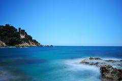 Lång exponering som skjutas av havet Royaltyfri Fotografi