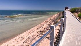 En lång väg bredvid en strand lager videofilmer