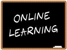 En línea aprendiendo ilustración del vector