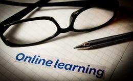 En línea aprendiendo Fotografía de archivo libre de regalías