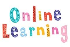 En línea aprendiendo stock de ilustración