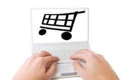 En línea shoping fotos de archivo