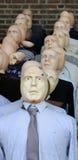 En línea. Una cara en la muchedumbre. Fotos de archivo