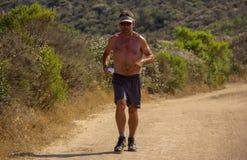 En löpare på en slinga i sydliga Kalifornien arkivbilder