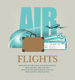 En l'avion autour du monde Images stock