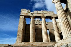 En la acrópolis en Atenas Fotos de archivo libres de regalías