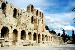 En la acrópolis en Atenas Imagen de archivo