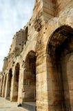En la acrópolis en Atenas Imagen de archivo libre de regalías