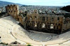 En la acrópolis en Atenas Foto de archivo libre de regalías