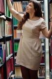 En la biblioteca Foto de archivo