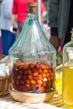 En la botella con alcohol Imagen de archivo libre de regalías