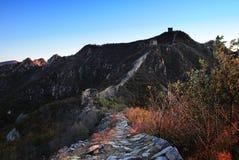 En la caída de la Gran Muralla Foto de archivo