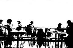 En la cafetería Foto de archivo