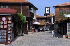 En la calle de Nesebar Imagen de archivo libre de regalías
