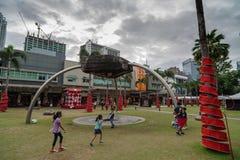 En la calle principal, Fort Bonifacio foto de archivo libre de regalías
