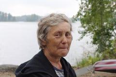 En la cara del lago Fotos de archivo libres de regalías
