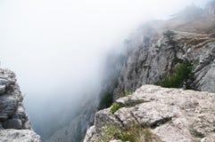 En la cima de la montaña hermosa y asombrosa Ai-Petri Imágenes de archivo libres de regalías