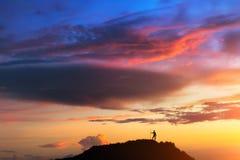 En la cima del mundo Fotografía de archivo
