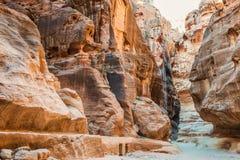 En la ciudad nabatean de petra Jordania Foto de archivo